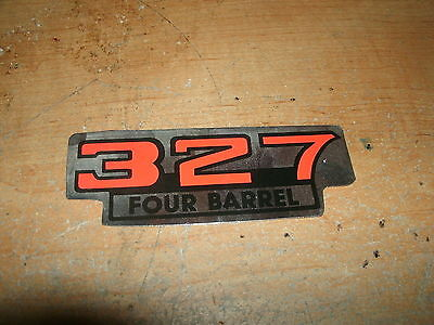 Chevrolet 327 Four Barrel 327 4v Air Cleaner Top Lid Decal Chrome Red Black