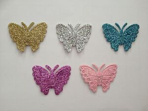 12-x-Self-Adhesive-Stick-on-Glitter-Butterflies-Card-Craft-Wedding-Invitations