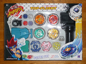 Battle-Beyblade-Metal-Fusion-D4-String-Rip-Cord-Launcher-Toy-Set-USA-Seller