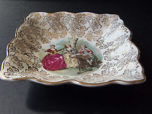 A Lovely Midwinter Fragonard Langbroek Period Costume StyleCraft Pin Dish