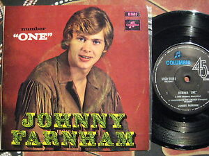 JOHNNY-John-FARNHAM-Number-One-1970-Oz-Picture-Sleeve-EP