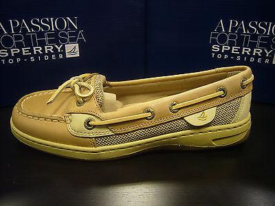 Sperry Top Sider Womens Boat Shoe Angelfish Linen Oat Size 5.5