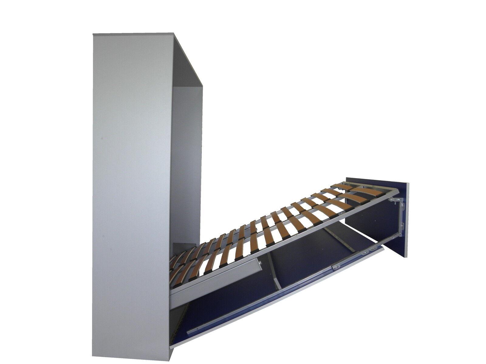 schrankbett wandbett klappbett 50 w 3 140x200 cm holz cassino esche braun eur. Black Bedroom Furniture Sets. Home Design Ideas