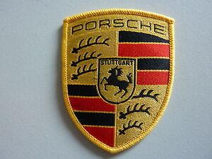 Für PORSCHE AUFNAEHER WAPPEN 53X65mm Blason Porsche ä coudre