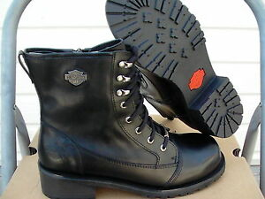 Womens-harley-davidson-boots-black-meg-comfort-boots-size-8-us-new-in-box