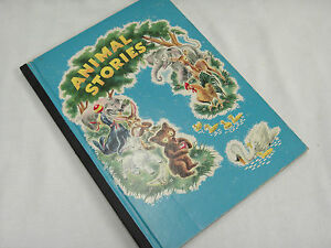 Vintage-Book-of-Animal-Stories-1947-by-Whitman-Publishing-Co-96-Pages-HB-Rare