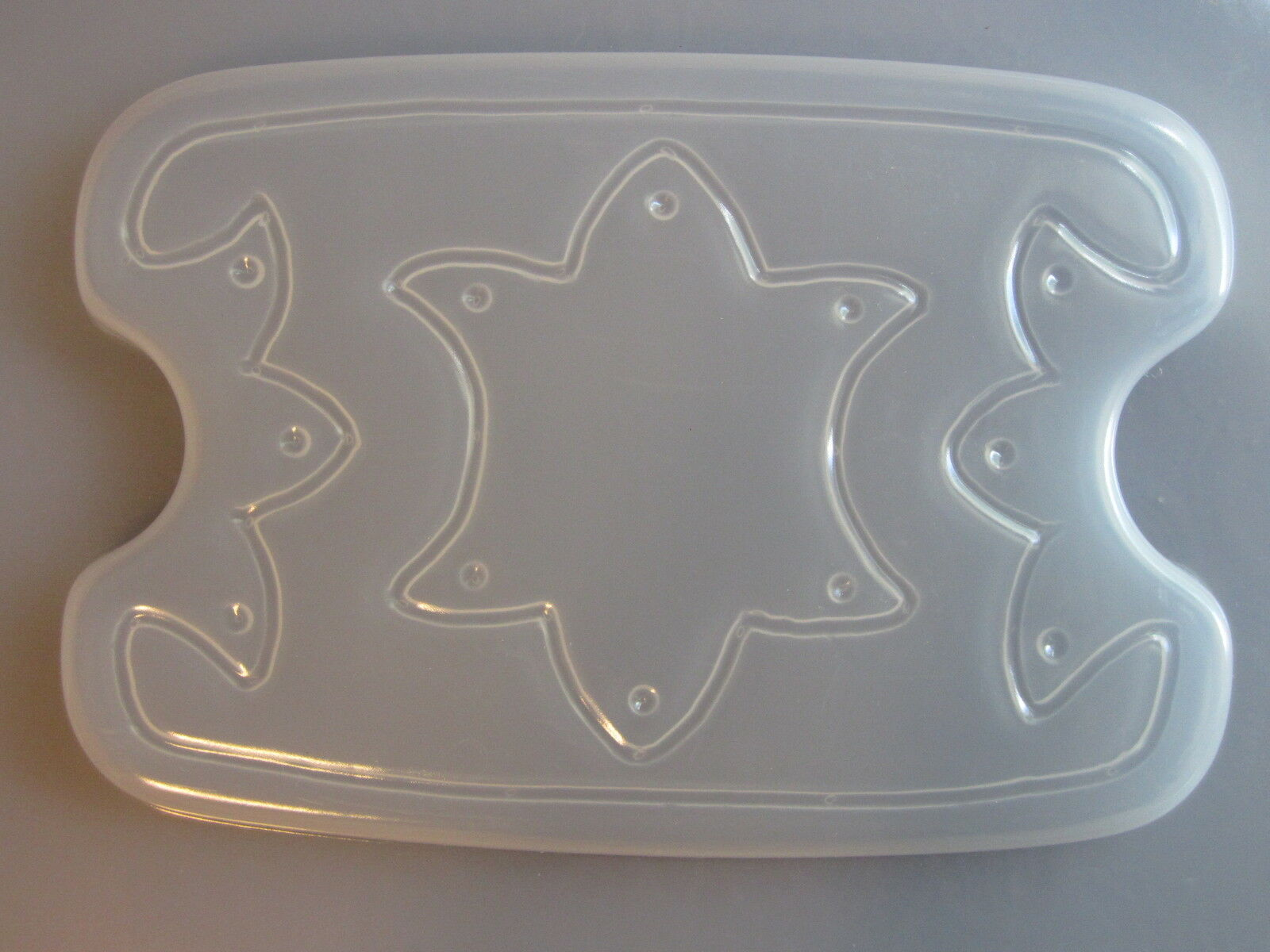 Resin Mold Jewelry Box & Lid Set Star 6x4.5 15x11,5cm Gift Trinket Or Soap Dish