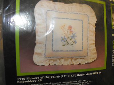 Creative Expressions Flowers Of The Valley 12 Pillow Embroidery Kit - Sealed