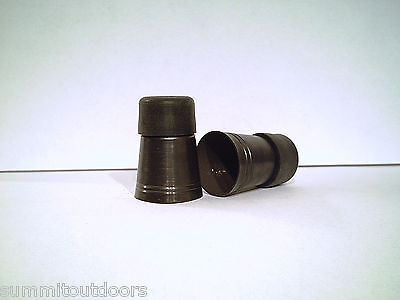 1 brass cap ferrule walking stick cane tip antiqued finish with a rubber bottom