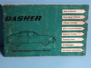 80-1980-Volkswagon-Dasher-owners-manual
