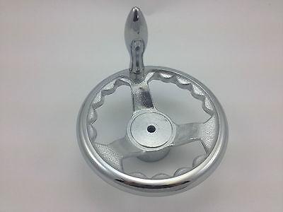 "6"" Cast Iron, Dish Spoked Handwheel with Revolving Handle - Brand New"