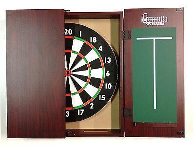 Dart Board Set Mahogany Dart Board Cabinet And Tx100 Dart Board + 6 X Darts