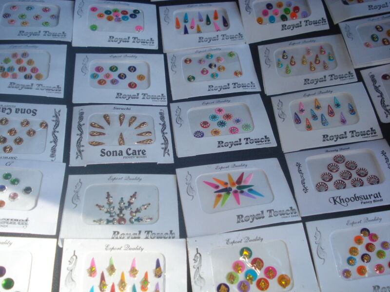 10 PACK BEAUTIFUL INDIAN DESIGNER BINDIS(STICKER TATTOOS)FACE(USA SELLER)B3