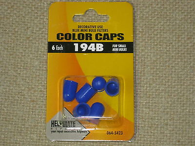 BLUE MINI LIGHT BULB FILTERS COLOR CAPS PACKAGE OF 6