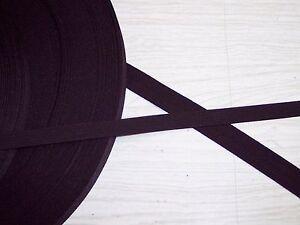 Nylon-strap-tape-3-4-or-1-2-pet-leash-harness-tie-downs-trim-black