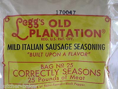 Mild Italian Sausage Seasoning For 50 Lbs Of Meat Venison Pork Beef Links Or Pan