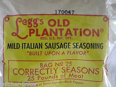 Mild Italian Sausage Seasoning For 100 Lbs Of Meat Venison Pork Beef Link Or Pan