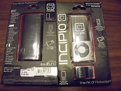 Ipod Nano 5g Clear Case Protector Cover With Video Stand Dark Gray Black Nip