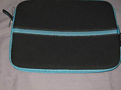Targus Netbook Sleeve 10x8.5 Neoprene Laptop Ipad Protect Case Black Blue