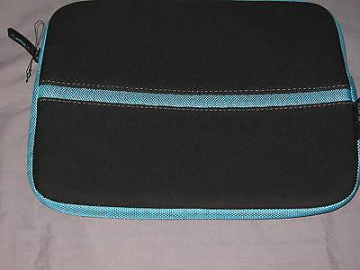 Targus Netbook Sleeve 10x8.5 Neoprene Laptop Ipad Protect Case Black Blue