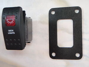 DECK-LIGHTS-SWITCH-W-PSC11-PANEL-BOAT-CARLING-V1D1-1-RED-LENS-BLACK-CONTURA-II