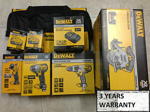 DeWalt 18V XR 4.0Ah Li-Ion 4pce Cordless Combo brushless Kit aussie model