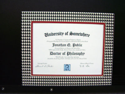 Picture Mat 11x14 Houndstooth University Alabama Crimson Tide For 8.5x11