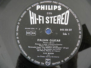 Van-Wood-Italian-Guitar-VERY-RARE-1st-Press-Dutch-Philips-HI-FI-STEREO-LP