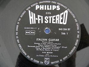 Van-Wood-Italian-Guitar-VERY-RARE-1st-Press-Dutch-Philips-HI-FI-STEREO-LP