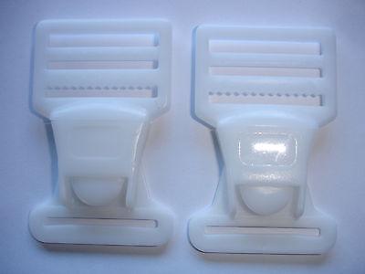 Steckschnallen, Steckschließen weiß 45mm breit 73mm lang 4 Stück