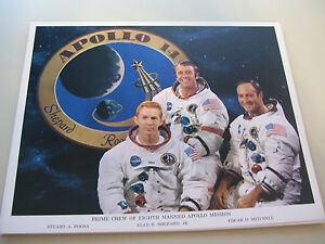 Vintage-NASA-8X10-Color-Photo-Apollo-14-Crew-L-K