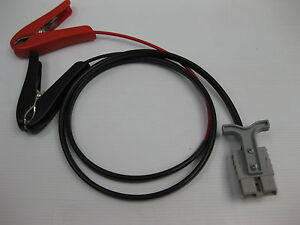 50-AMP-ANDERSON-PLUG-EXTENSION-LEAD-TO-ALLIGATOR-CLIPS-FRIDGE-SOLAR-6M-6mm-twin