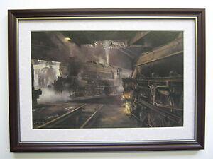 David Shepherd Steam Train Print 'Willesden Steam Sheds' FRAMED