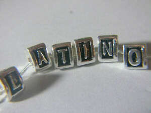 Authentic-Silver-Plated-European-Bead-Charm-3-FACES-Clip-LETTER-A-Z