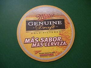 Beer-Coaster-Bar-Mat-MILLER-LITE-Mas-Sabor-Mas-Cerveza-2006-BarMat-WISCONSIN