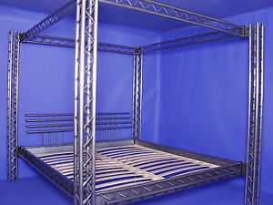 designer bett himmelbett metallbett eisewnbett stahlbett mod 3p 4p bdsm 200x200 ebay. Black Bedroom Furniture Sets. Home Design Ideas
