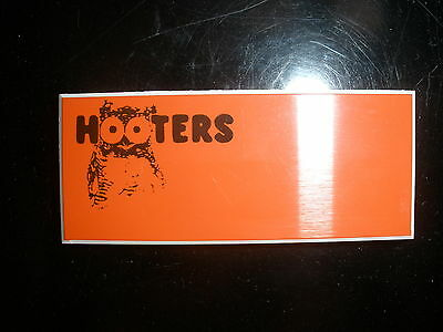 NEW AUTHENTIC HOOTERS UNIFORM BLANK NAME TAG HALLOWEEN
