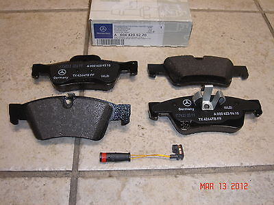 Mercedes GL-Class Genuine Rear Brake Pad Set,Pads w/Sensor GL450 GL550 GL350 320