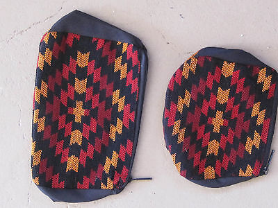 Southwestern Design Red, Black Gold Cosmetic, Jewelry Or Multi-use Bags - 2