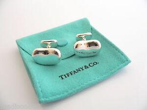Tiffany-Co-Silver-Elsa-Peretti-Bean-Cuff-Link-Cufflink-Rare-Excellent