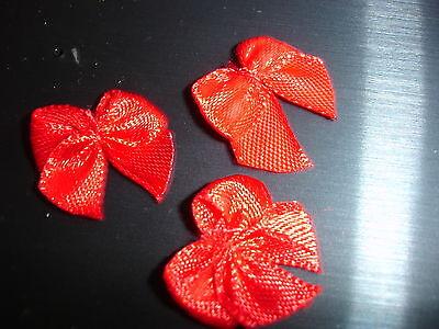 DEKO Schleifen Satin rot 10 Stück (nur 20 Cent pro Stück)