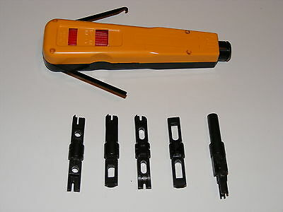 110 & 66 block punch down impact tool cat 6  bix blade ()
