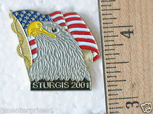 2001-Sturgis-Motorcycle-Rally-Pin-Eagle-Patriotic-Flag-Pin-Proud-to-be-America