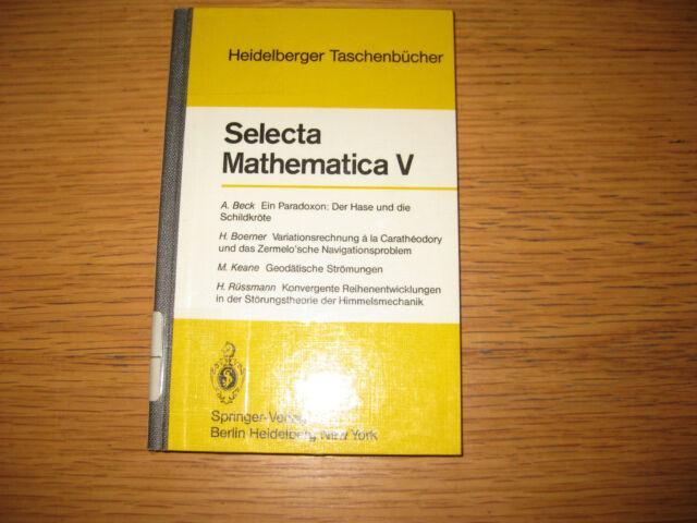 Selecta Mathematica V   (1979) , Konrad Jacobs