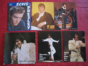 ELVIS-Presley-Concert-Photo-albums-lot-of-6-1956-thru-1977
