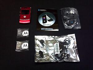 NEW-AT-T-MOTOROLA-V3-RAZR-RED-3G-QUADBAND-GSM-UNLOCKED-CELL-PHONE