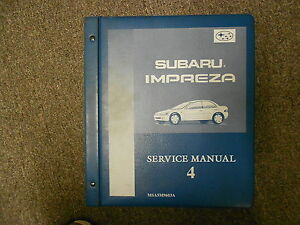 1996-Subaru-Impreza-Service-Manual-Volume-4-FACTORY-OEM-BOOK-96-BINDER