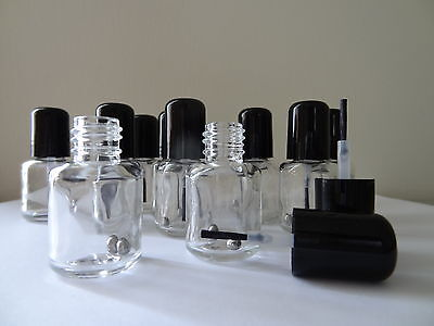 12 Mini Empty Nail Polish Bottles (5ml)