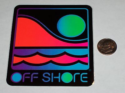 VTG OFF SHORE OFFSHORE SURF SURFING SURFBOARD SURFBOARDING BEACH STICKER DECAL !