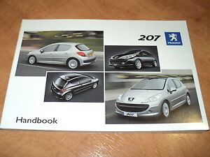 BRAND NEW Genuine Peugeot 207 and 207 SW Estate Owners Handbook / Manual